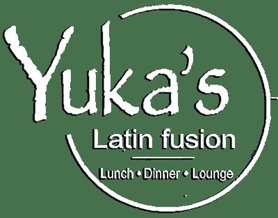 Yukas Latin Fusion - Web Logo - White - Restaurant NY