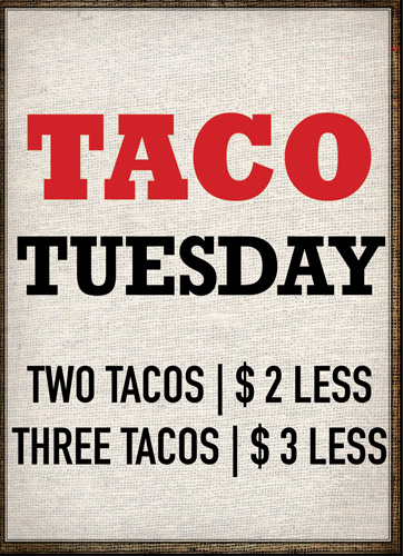 Taco Tuesday - Yukas Latin Fusion